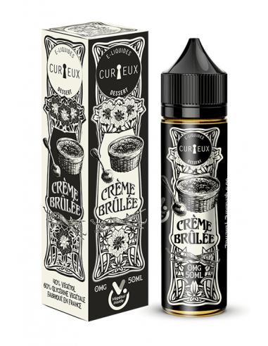 E-liquide Crème brulée 50ml - Curieux...